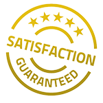 satisfaction guaranteed image in gold